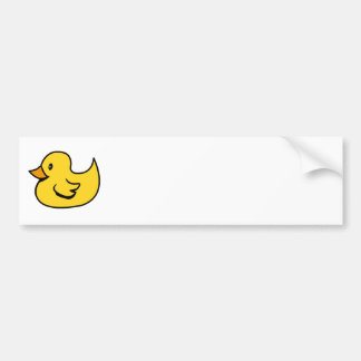 Yellow Rubber Duck Bumper Sticker