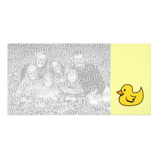 Yellow Rubber Duck Custom Photo Card