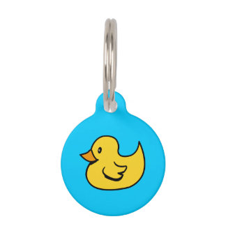 Yellow Rubber Duck Pet Name Tag