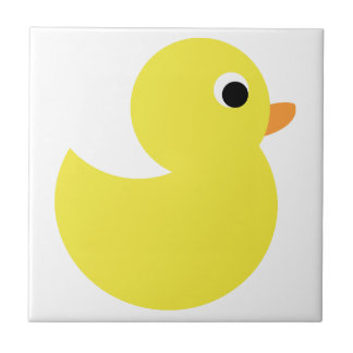 Yellow Rubber Duck Small Square Tile