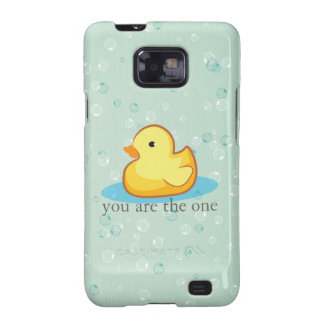 Yellow rubber duck with bubble Samsung Galaxy Case Galaxy SII Cover