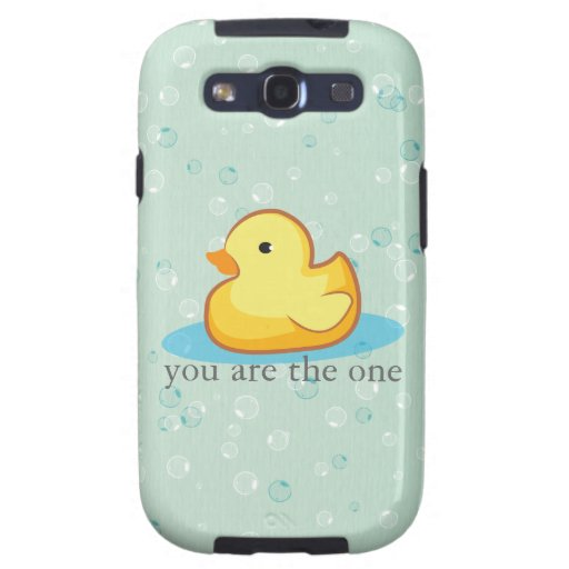 Yellow rubber duck with bubble Samsung Galaxy Case Galaxy S3 Covers
