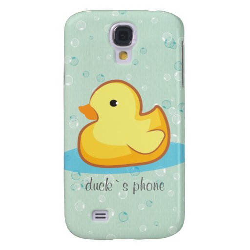 Yellow rubber duck with bubbles iPhone 3 Speck Samsung Galaxy S4 Covers