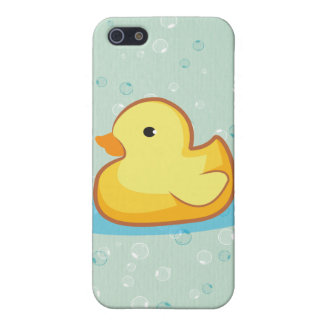 Yellow rubber duck with bubbles iPhone 4S Cover For iPhone 5