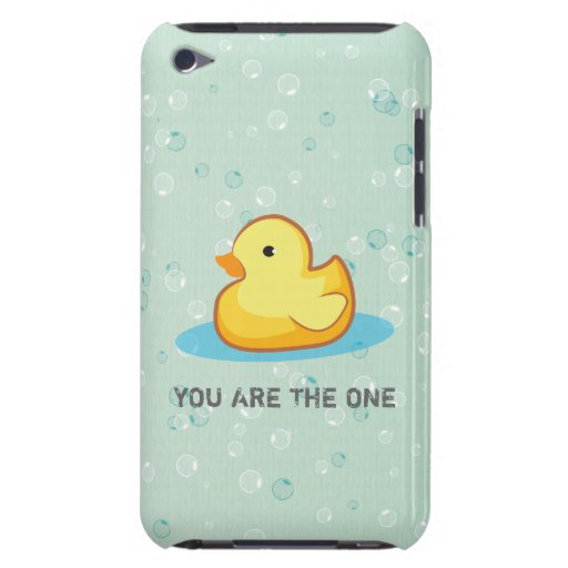 Yellow rubber duck with bubbles iPod Touch case
