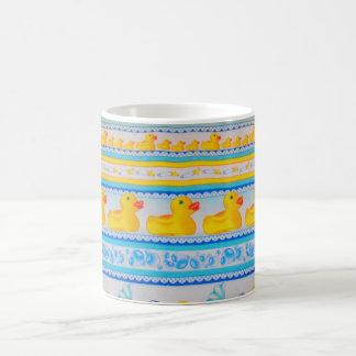 yellow rubber duckies basic white mug