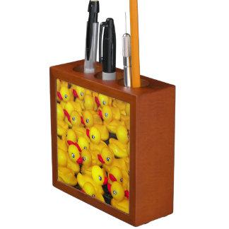 Yellow rubber duckies desk organizer Pencil/Pen holder
