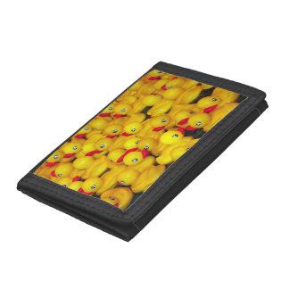 Yellow rubber duckies print wallet