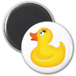 Yellow Rubber Duckies Refrigerator Magnet