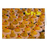 Yellow Rubber Ducks 30th Birthday Funny Card