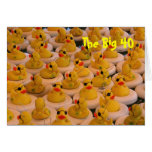 Yellow Rubber Ducks 40th Birthday Funny Card