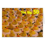 Yellow Rubber Ducks 50th Birthday Funny Card