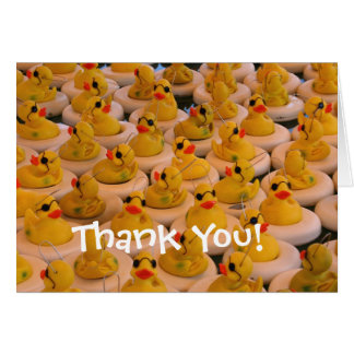 Yellow Rubber Ducks Cute Thank You Card