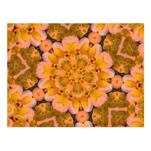 Yellow Rubber Ducks Kaleidoscope Photo Postcard