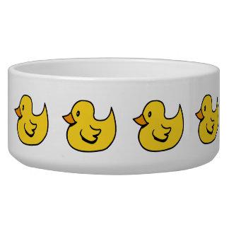 Yellow Rubber Ducks Pet Bowl