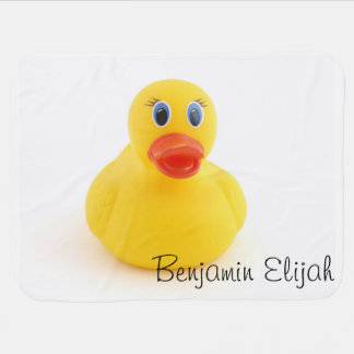 Yellow Rubber Ducks Receiving Blanket