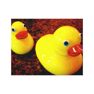Yellow Rubber Ducks Wrapped Canvas (Gloss)