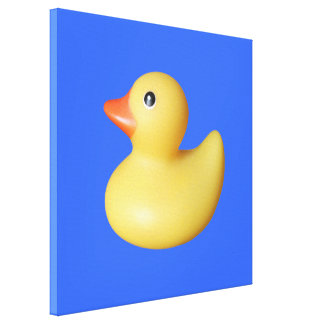 Yellow Rubber Ducky Canvas Prints