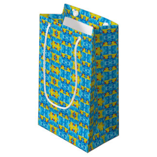 Yellow Rubber Ducky in Bubbles Small Gift Bag