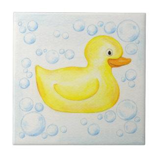 Yellow Rubber Ducky tile