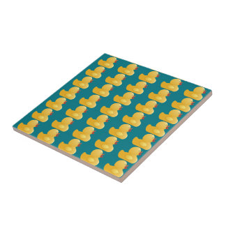 Yellow Rubberduck Small Square Tile