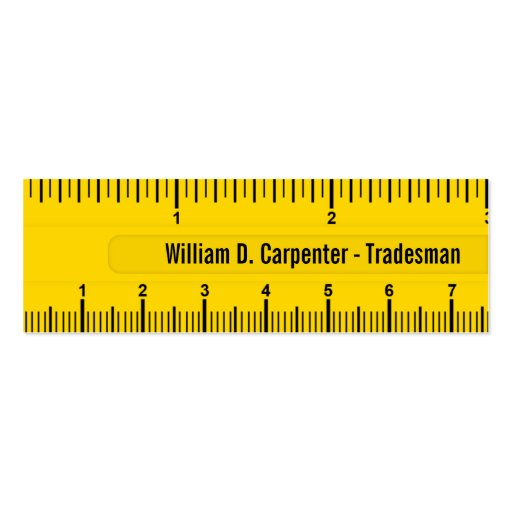 Yellow Ruler or Rule Technical Business Card
