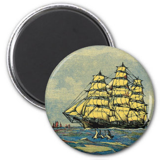 Yellow Sails 6 Cm Round Magnet
