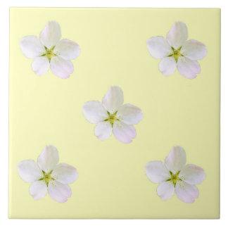 Yellow Sakura Large Square Tile