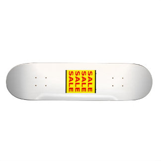 Yellow Sale Sign Skate Deck