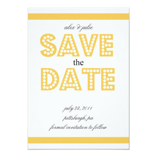 yellow save the date card