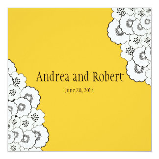 Yellow Save the Date Wedding Announcement