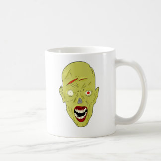 yellow scarred zombie coffee mugs