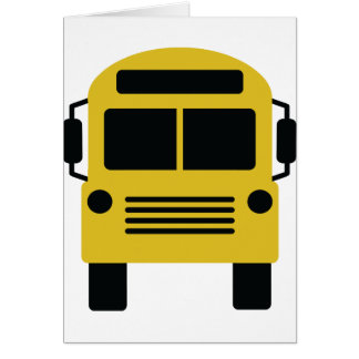 yellow school bus cards