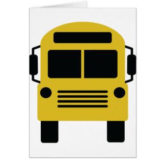 yellow school bus cards