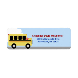 Yellow School Bus Custom Address Labels