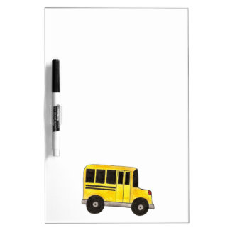 Yellow School Bus Driver Gift Dry Erase Board