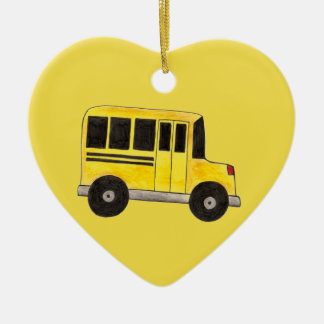 Yellow School Bus Driver Teacher Education Gift Christmas Ornament