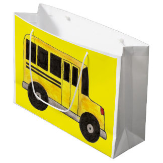Yellow School Bus Driver Teacher Gift Bag