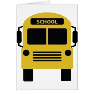 yellow school bus icon cards
