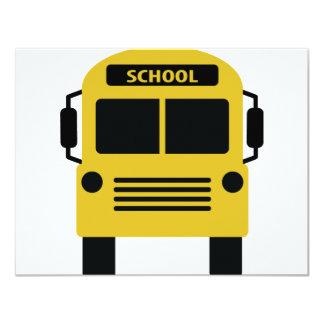 yellow school bus icon card