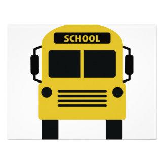 yellow school bus icon announcements
