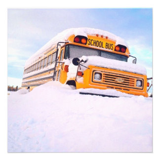 Yellow School Bus Personalized Invitation