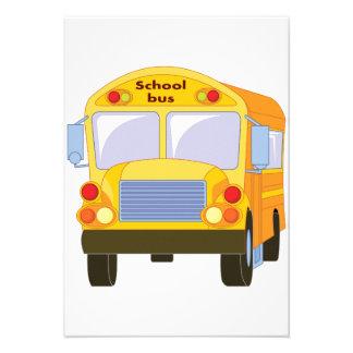 Yellow School Bus Invitations