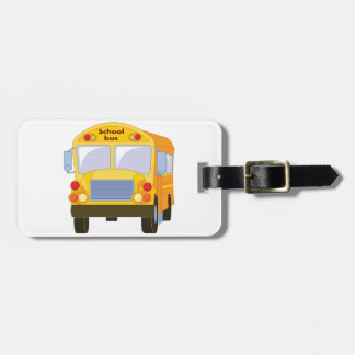Yellow School Bus Luggage Tags