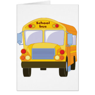 Yellow School Bus Note Cards