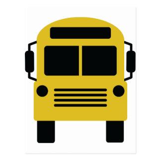 yellow school bus postcard