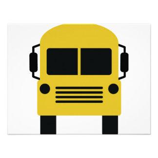 yellow school bus symbol custom invites