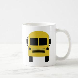 yellow school bus symbol coffee mugs