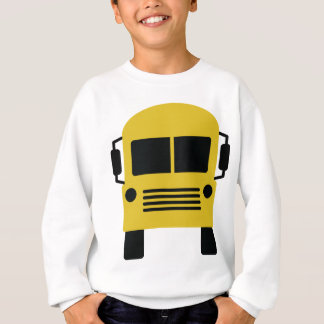 yellow school bus symbol sweatshirt