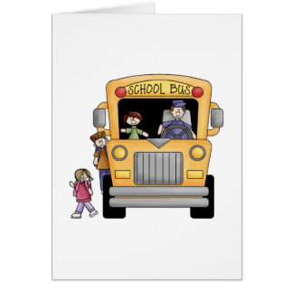 Yellow School Bus Tshirts and Gifts Greeting Card